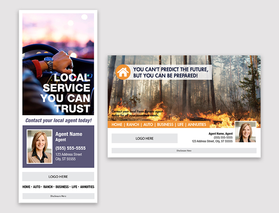 advertisement examples showing graphic design