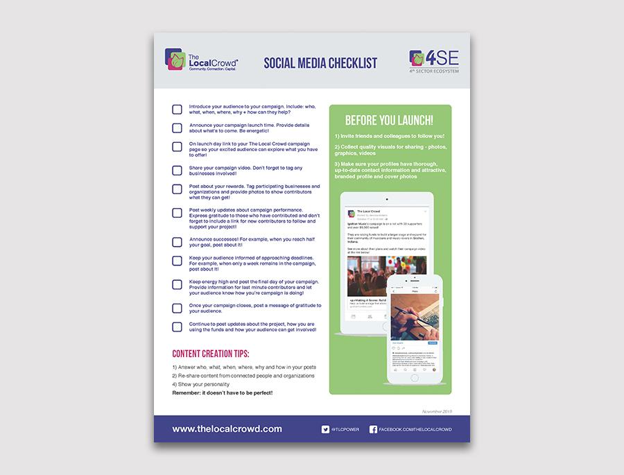 checklist flyer for social media development